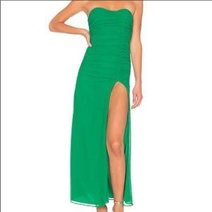 NWT  Majorelle Iridessa maxi dress green